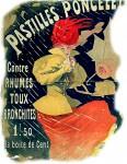 Werbung für ein französische Husten- Bonbon